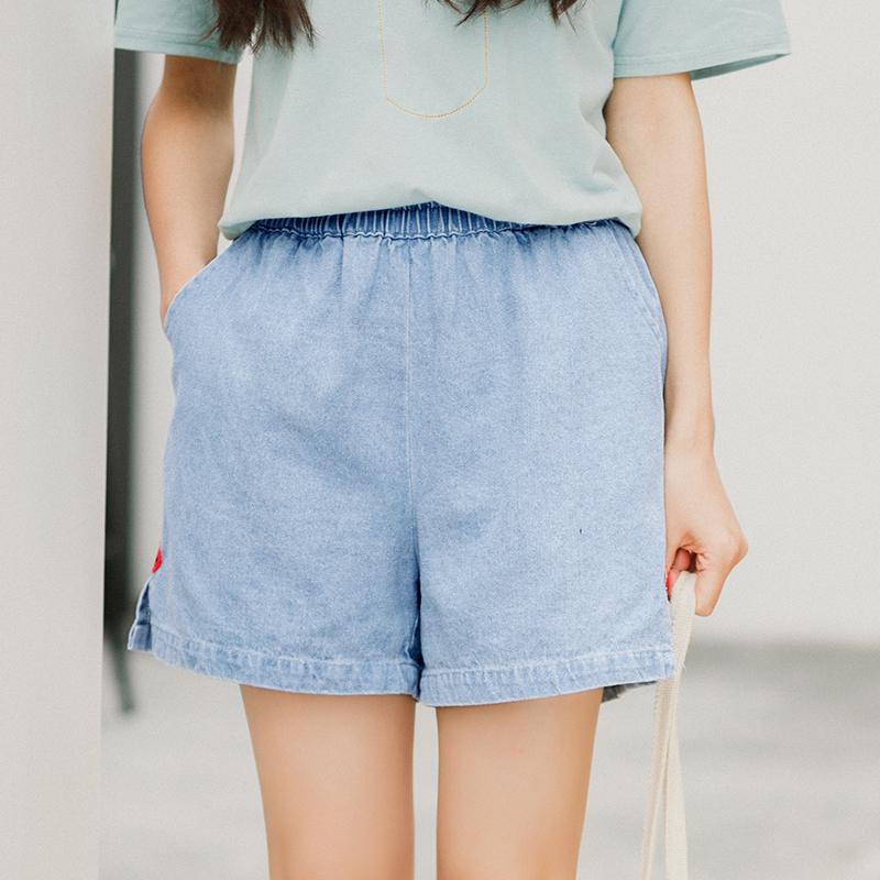 Quần sooc bò nữ tôn dáng chun eo phong cách Hàn Quốc dễ kết hợp phù hợp cho mùa hè phong cách học sinh trẻ trung kiểu dáng rộng rãi mẫu mới nhất