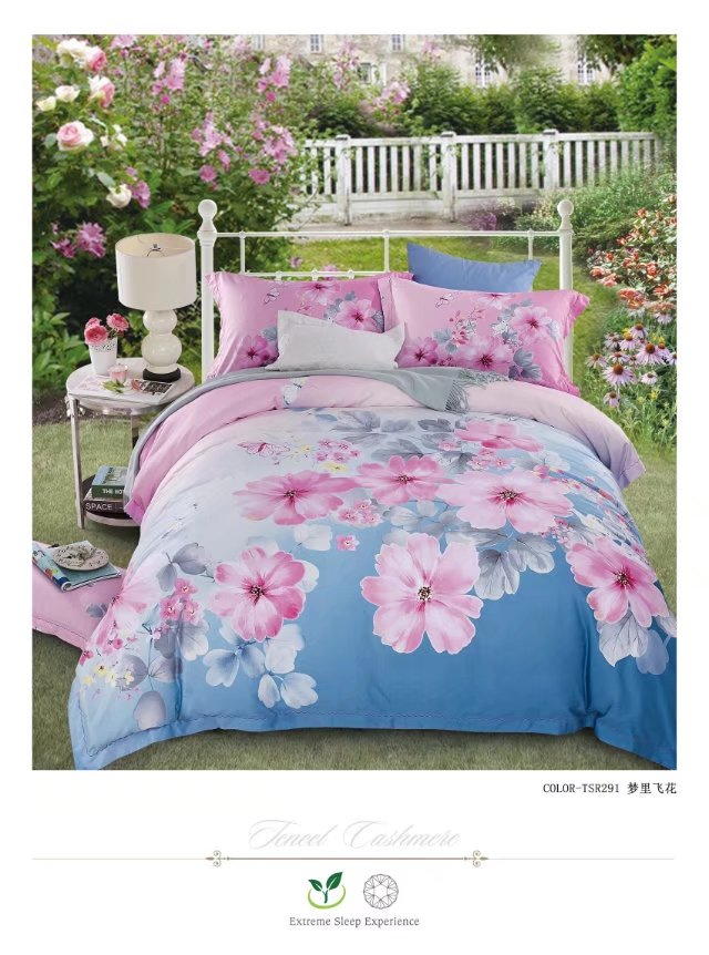 Manufacturers selling high-end bedding 60 double-sided sanding Tencel super soft velvet warm up four sets of the dream fly - Blue