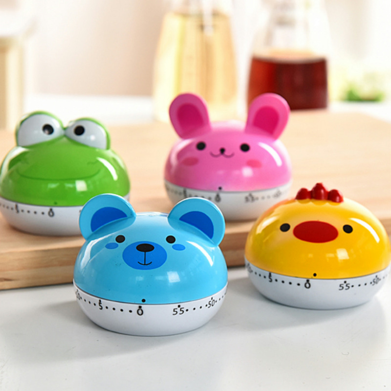 Kitchen timer reminding students creative cute cartoon home loud mechanical timer