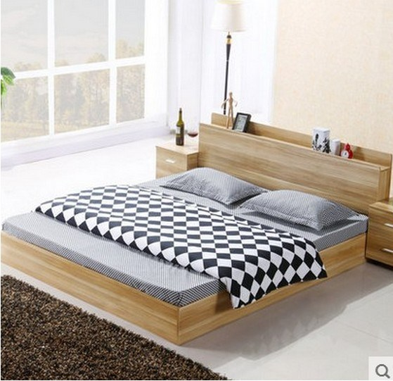 The National Post tatami type bed solid wood bed particle board tatami simple double bed