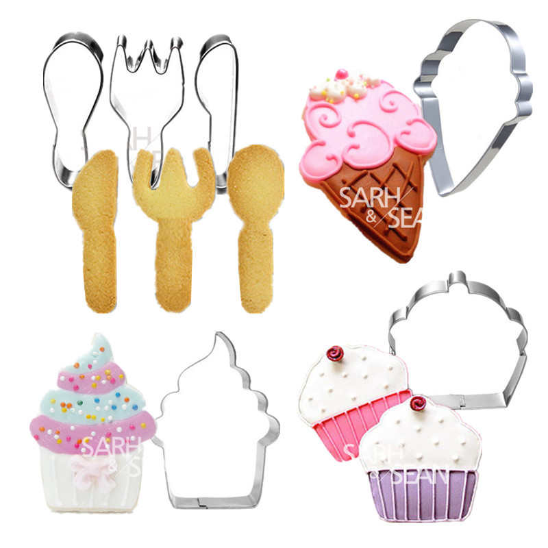 4pcs/set Metal Stainless Steel Cutters Delicious Desserts an