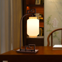 New Chinese classical lamp, bedroom, bedside lamp, originality, simplicity, personality, modern dimming switch, LED lighting