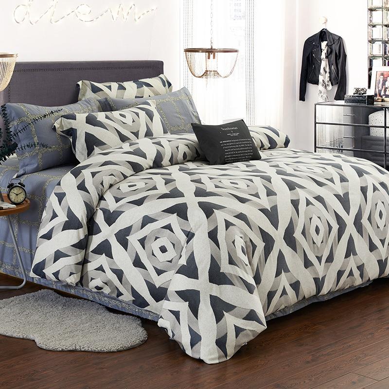 L'unico marchio di lusso prodotti di cotone tencel levigatura letto 4 Pezzi di cotone deve 1.8m1.5m letto doppio
