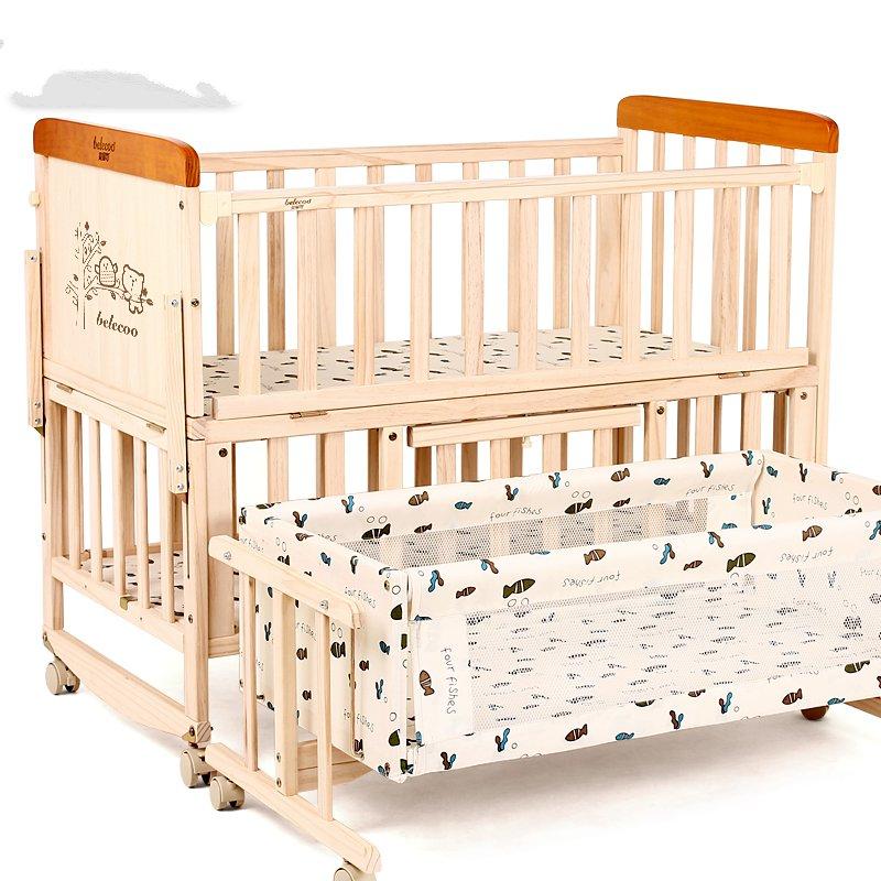 Το λίκνο της κρεβάτι μωρό κρεβάτι χωρίς μπογιά ξύλινο κρεβάτι πολυλειτουργική νεογέννητα λίκνο το καλοκαίρι μπορεί να γράφεται με κινητό