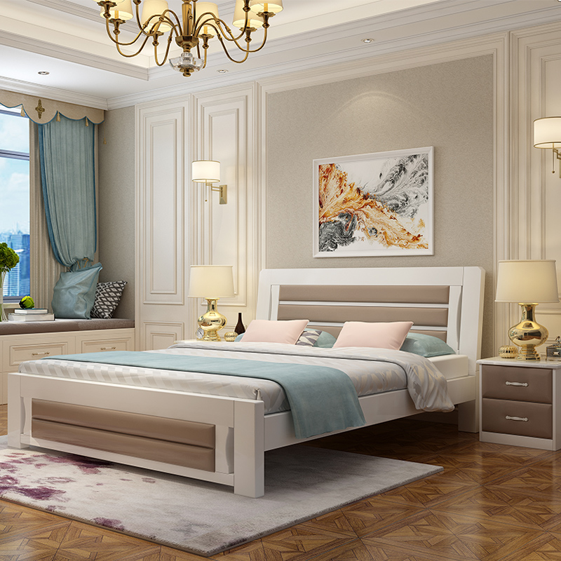 Jane back fashion luxury green princess bed dormitory bedroom rental home furniture double bed in winter