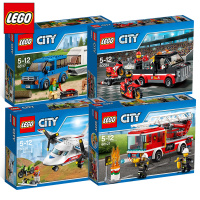LEGO City Series Assembled Assembled Aircraft Toys Police Fire Rescue Fire Truck Auto Ships