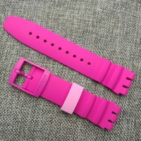 Original Swatch Swatch 21mm series submersible Roseo silicone watchband fantasy SUUK113 pin buckle watch strap