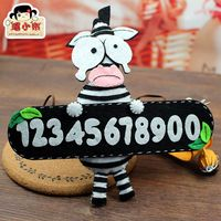 The temporary parking card and license plate creative weaving manual DIY material package production