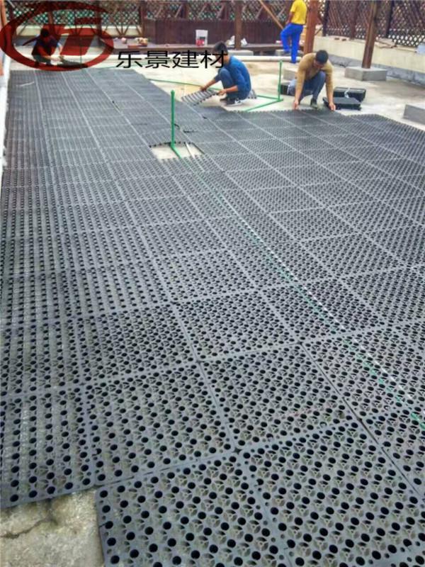 В августе новый сад на крыше колодки посадки дренажной сети теплоизоляции фильтрации воды, балкон овощи хранения дренажа
