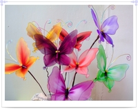 silkestrømpe blomst materiale - materiale, håndlavet bi sommerfugl emballage komplette sæt af pakker