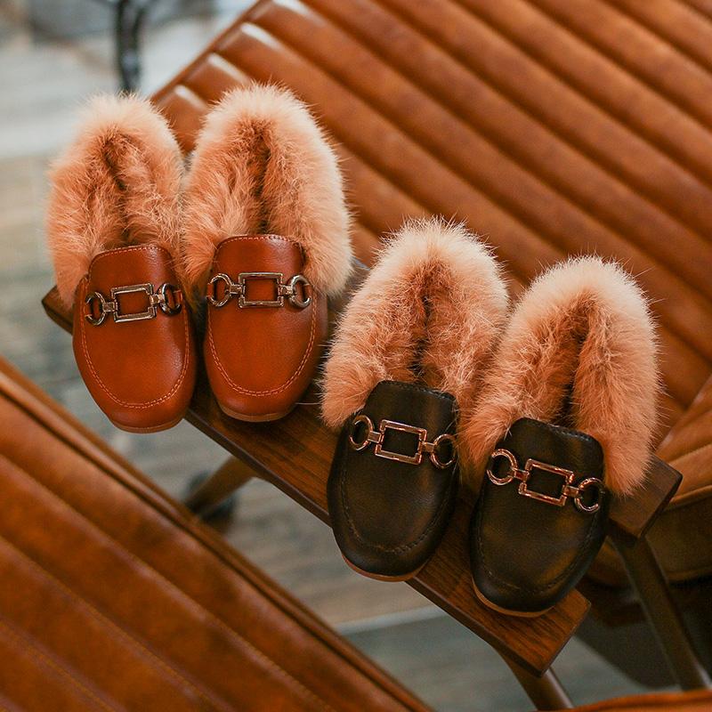 天天特价儿童豆豆鞋3-9岁女童4公主鞋5毛毛鞋6男童7加绒加厚8棉鞋