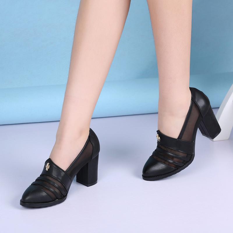 特價促銷斷碼超高跟粗跟防水臺時尚舒適潮流鏤空女鞋單鞋