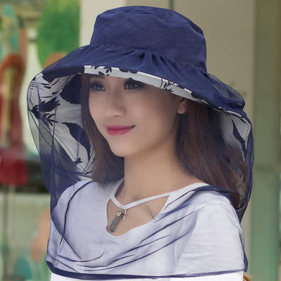 Hat hat female mosquito proof folding hat cap UV protective