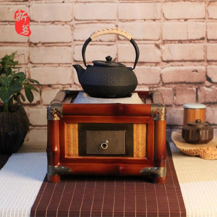 antiikkia, bambu - uuni keittää teetä takan hiiltä, hiiltä, rautaa, olive garden. uunin uunin hiiltä uunin kung fu - teeseremonia