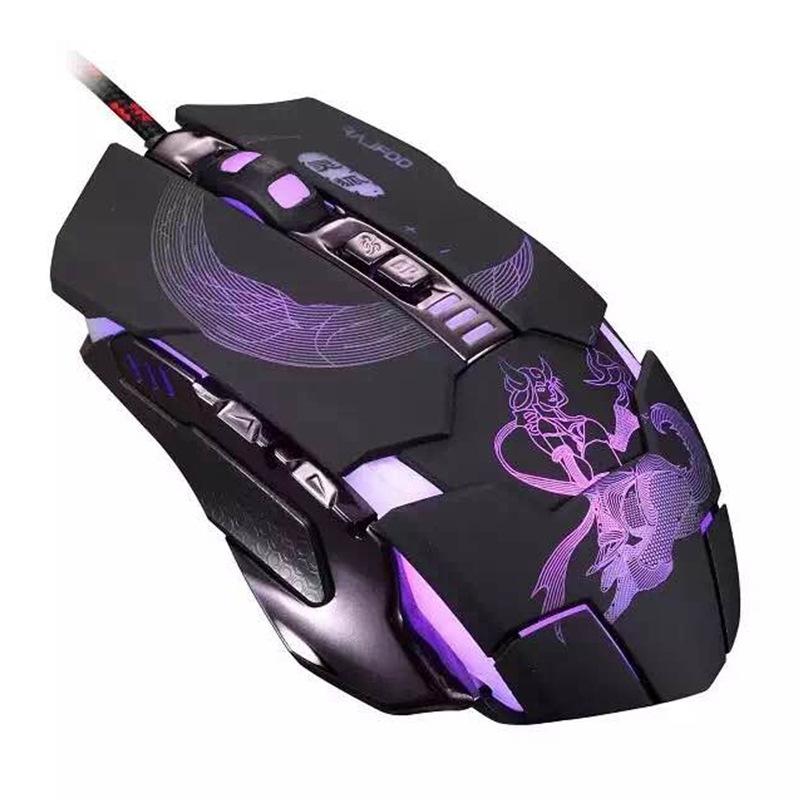 Ray kỹ câm chơi chuột macro Programming Jedi máy sinh tồn phát quang cáp máy tính Gaming.