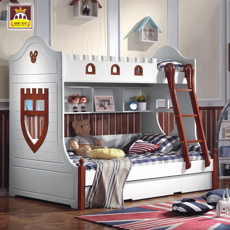 Die amerikanische country - Garten Bett, Bett und aus dem Bett mittelmeer auf dem Bett, Junge / Mädchen 1,35 Kinder post