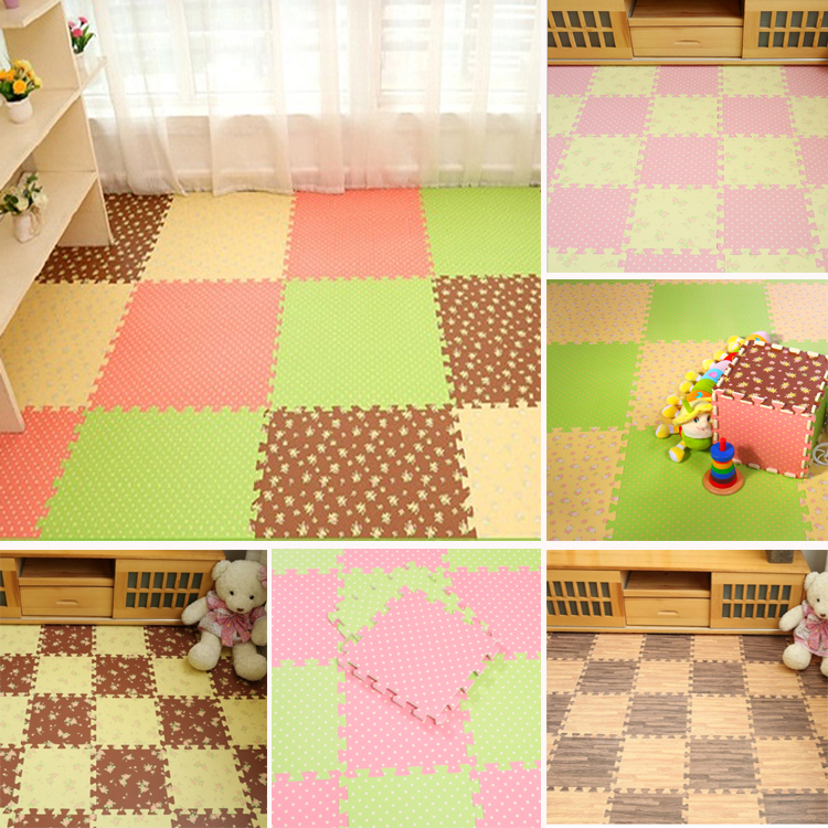 The bedroom home covered with tatami mosaic puzzle thickened foam mat floor mat children crawling carpet pad