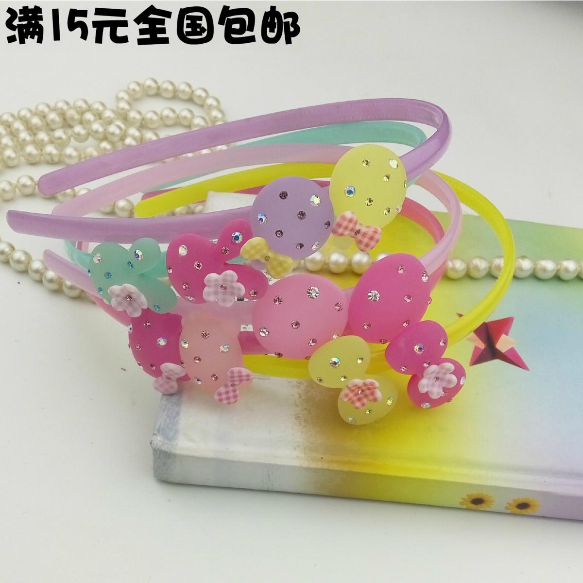 新型韓国钻饰カチューシャ児童頭箍圧バネプラスチック赤ちゃんを持って歯幼稚園スリップ発アクセサリー