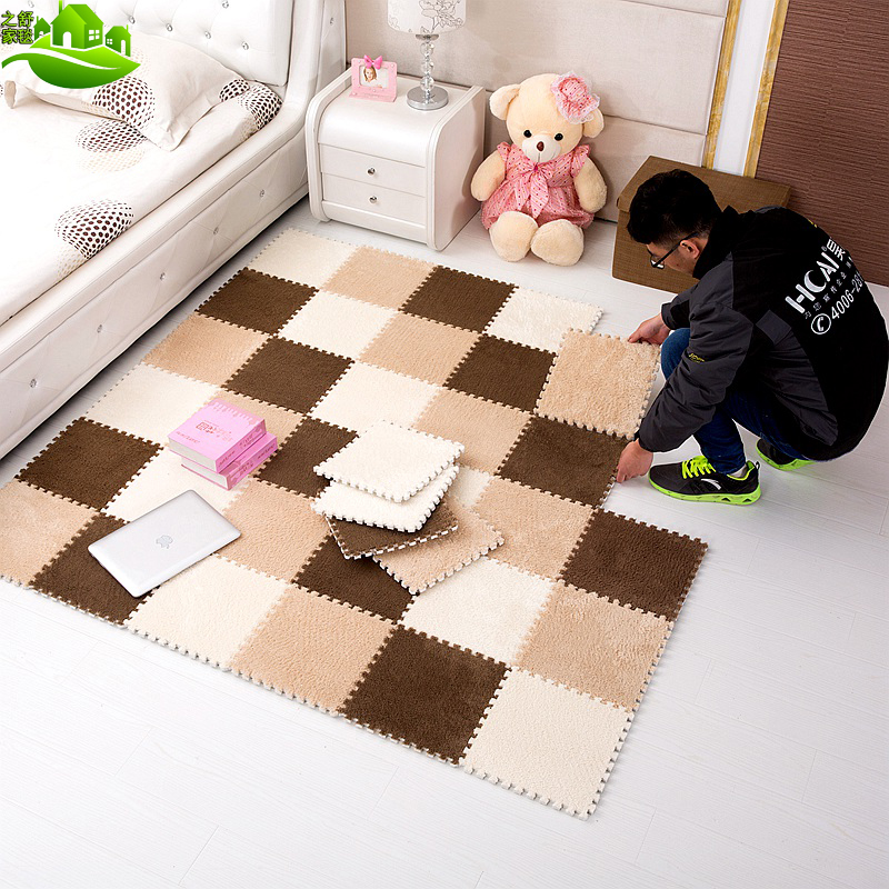 Suede stitching foam mats covered the bedroom carpet slip can be cut household infant tatami climbing pad