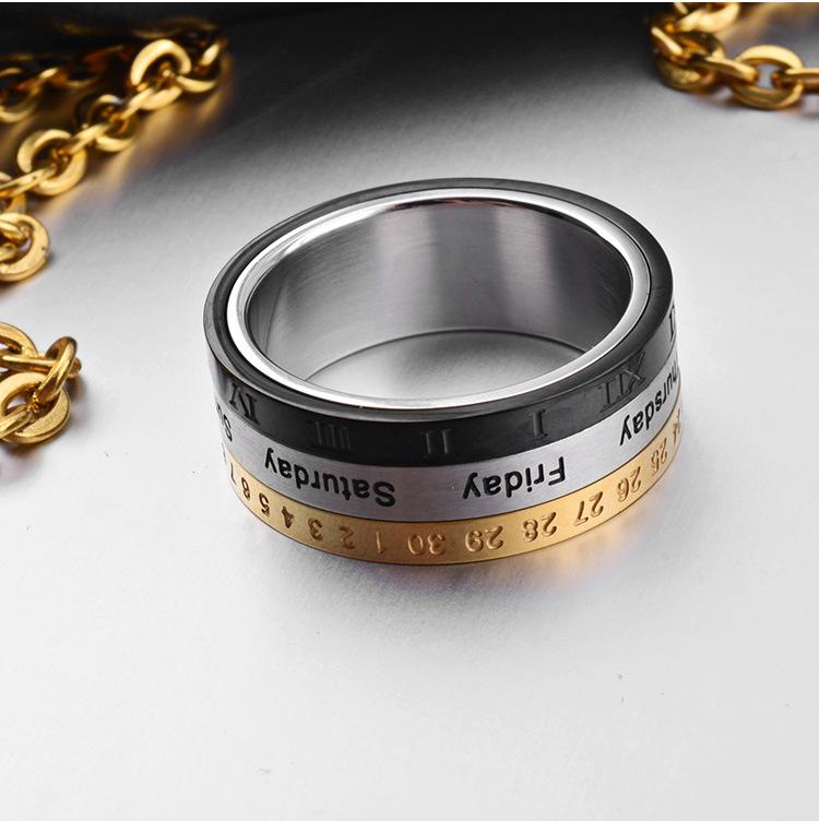 может повернуть кольца!титановая сталь Южная Корея личности одиноких мужчин и женщин доминирования питание кольцо кольцо кольцо на большом пальце прилив время транспорта