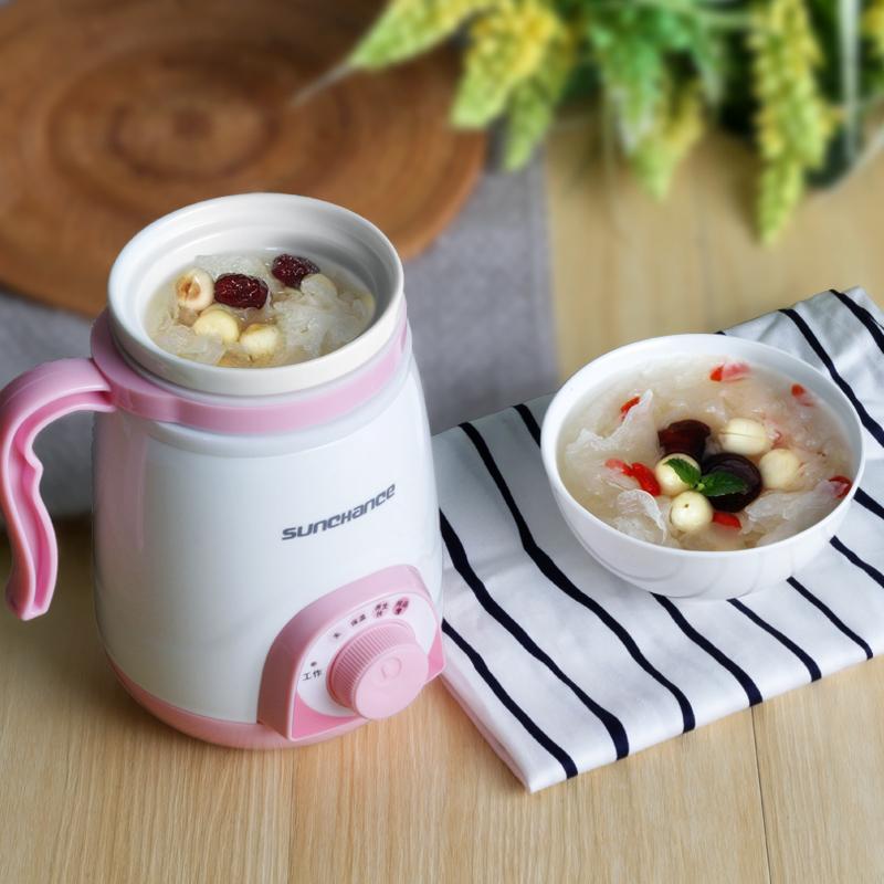 La Oficina de salud, ollas de cerámica del mini - sopa de gachas de nuevo la Copa Copa Copa Copa de agua hirviendo con calefacción eléctrica