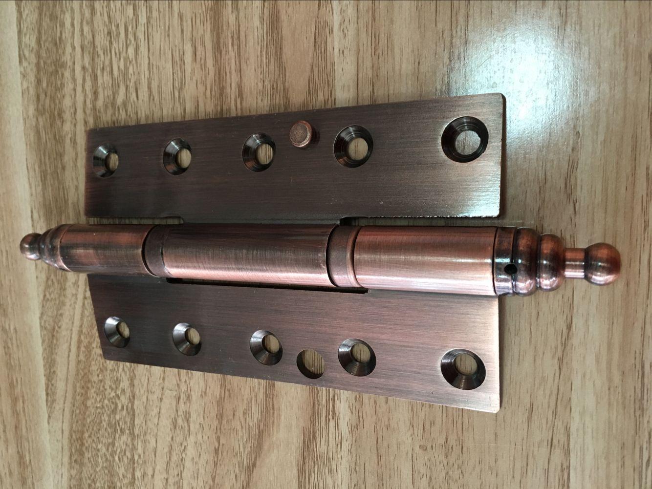 Горячий красный двери петли 8 дюймов бронзового проволочное Mute 180*45 бронзовые двери деревянные двери с петель, кражи