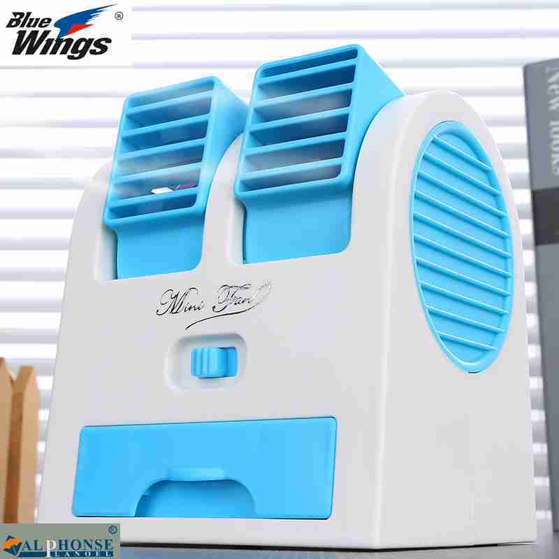 No leaf fan - Fan humidifier small desktop air conditioning refrigeration cooling fan cooling machine mute