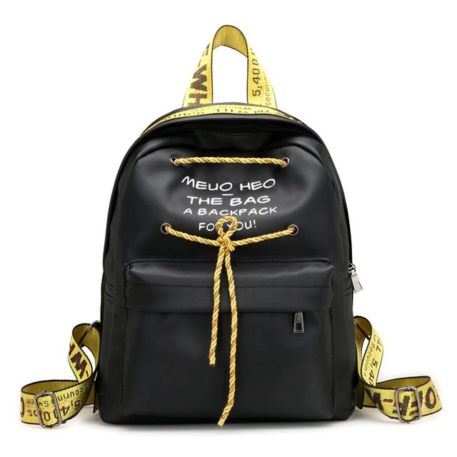 【天天特价】彩条双肩包女韩版百搭旅行小背包时尚书包包牛津布包