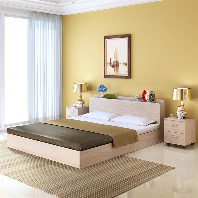 Modern minimalist type bed 1.5 meters double bed single bed 1.2 1.8m Japanese tatami bed storage type economy