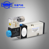 The solenoid valve 4V210-08 AC220V two position five way solenoid valve control valve pneumatic valve cylinder switch