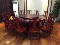 Special hot pot table, electric table, induction cooker, hot pot table, round table, solid wood table, chair, 10/12/14/16/20 people
