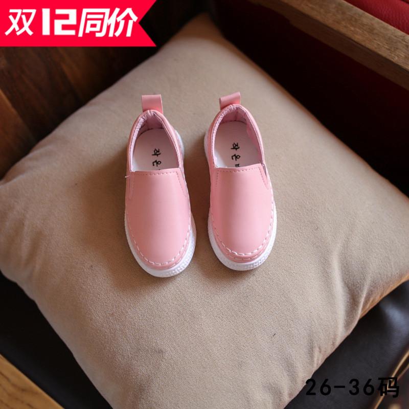 2017童鞋春季新款儿童鞋男童乐福运动鞋女童休闲板鞋小白鞋潮 梵