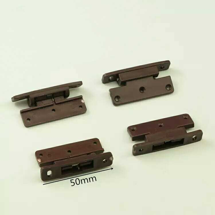 Hinge furniture, plastic spring hinge, plastic cabinet door, small hinge, plane hinge door, border dust strip hinge new product