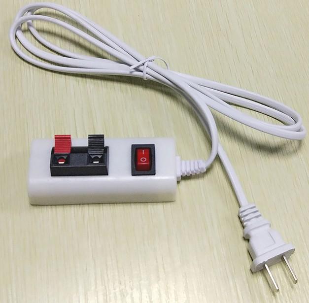 コントローラ部品プラグ線試験点燈ランプを挟んで間接照明電源線バンドスイッチスポットライトテストイルミネーションヘッドランプ