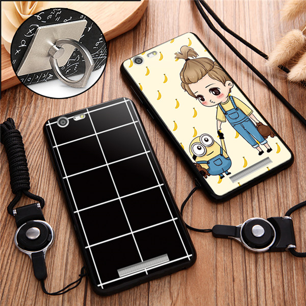 With the support of soft silicone shell mobile phone lanyard fall protection set of Jin M5 enjoy GN50025.5 inch version