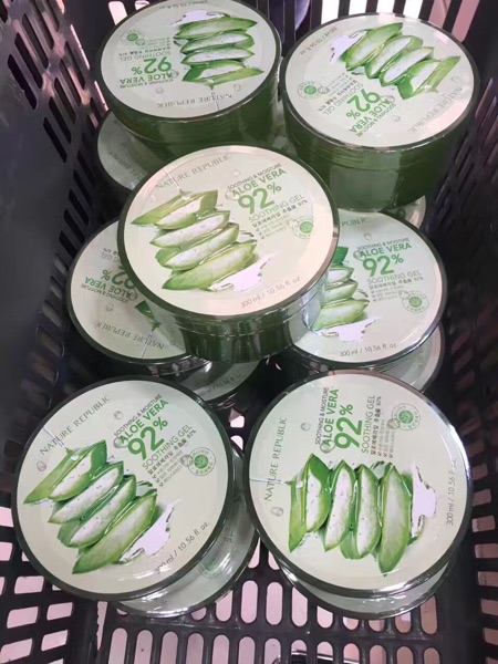 Hongkong purchasing genuine natural paradise Aloe Vera 300ML disposable mask cream