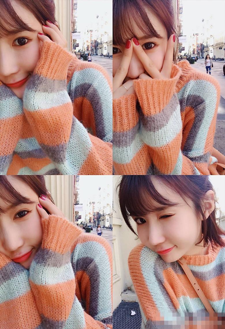BIGKING Daikin дома смешанные цвета радуги оранжевый милая кашемир чувство корейских женщин ulzzang полосатый свитер