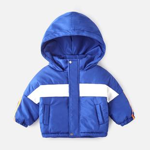 男童棉服潮童洋气儿童新款轻薄棉袄棉衣宝宝加厚冬季连帽小童冬装
