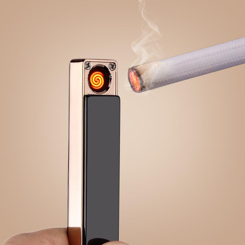 Maßgeschneiderte Persönlichkeit - USB - ladegerät Leichter Wind Metall - schriftzug eine Kreative geschenk feuerzeug Männer und Frauen