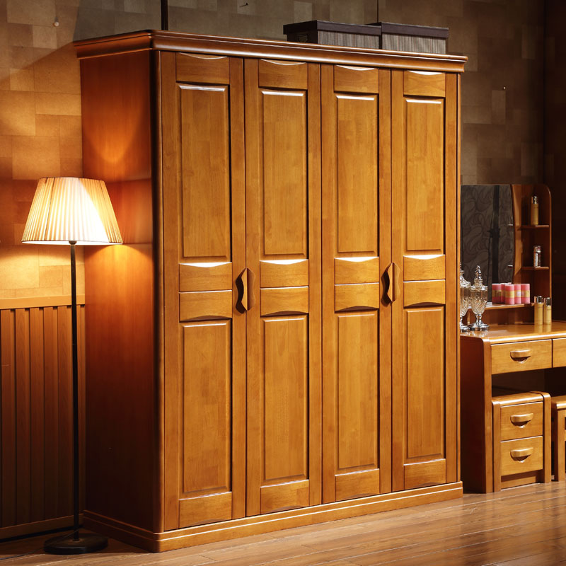 деревянный шкаф дубовый шкаф гардероб деревянные двери деревянные двери 4 3 спальни простота сборки современных взрослых плюс сверху