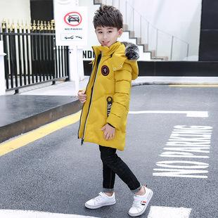 2018新款儿童棉衣中大男童棉衣韩版加厚中长款羽绒服棉服棉袄70