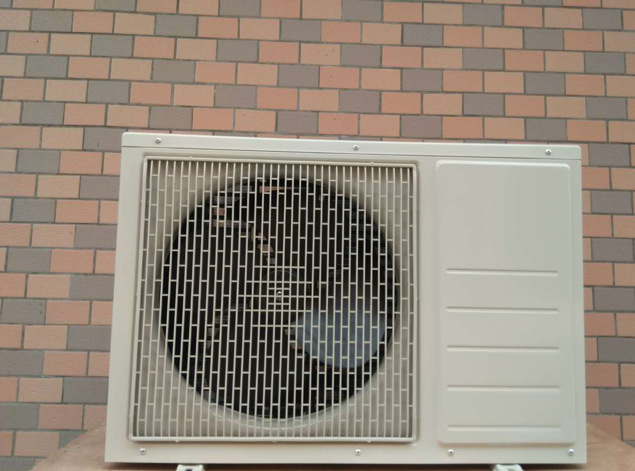 The air conditioning condenser, fan shell with a single row of 1.5 pieces of double air to water machine air conditioning unit
