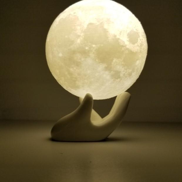 月球灯3d打印月亮灯创意生日礼物LED小夜灯台灯床头灯 月球灯定制