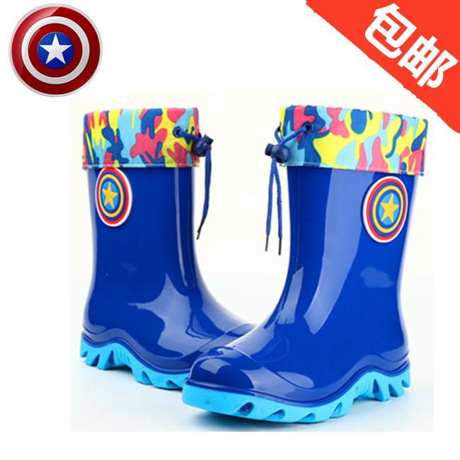 儿童雨鞋男童女童加绒保暖防滑小孩雨靴两用卡通冬季学生水鞋