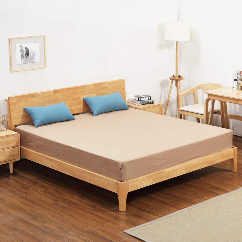 The oak bed Nordic language involved Deng 1.5 meters 1.8 meters double Zhuwo solid wood bed