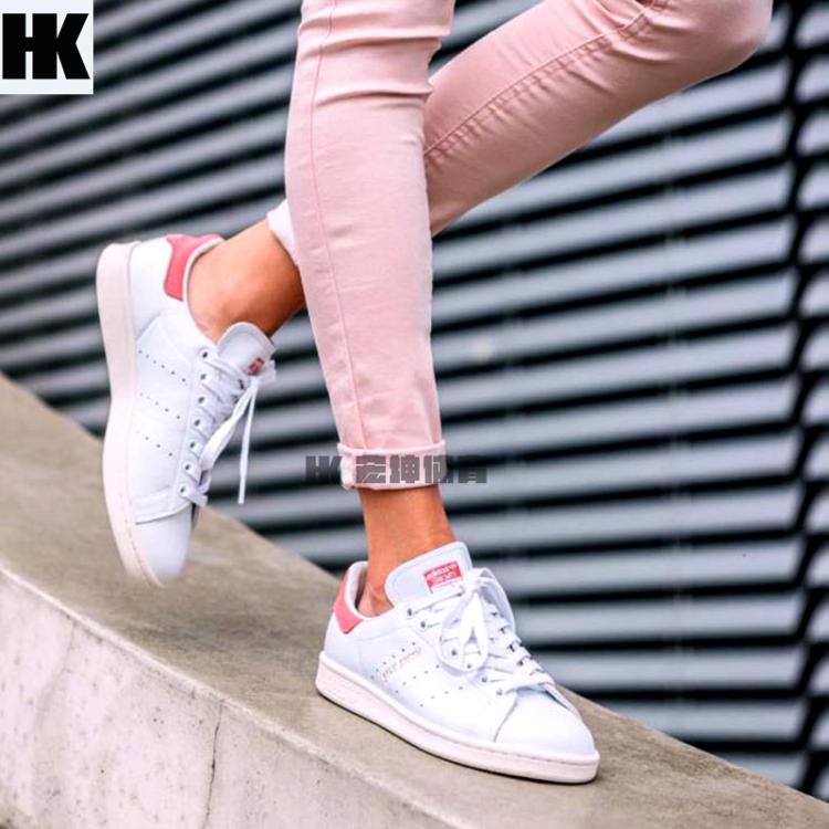 宏坤スポーツアディダスアディダスStanSmith白い粉尾カップルの運動靴S80024
