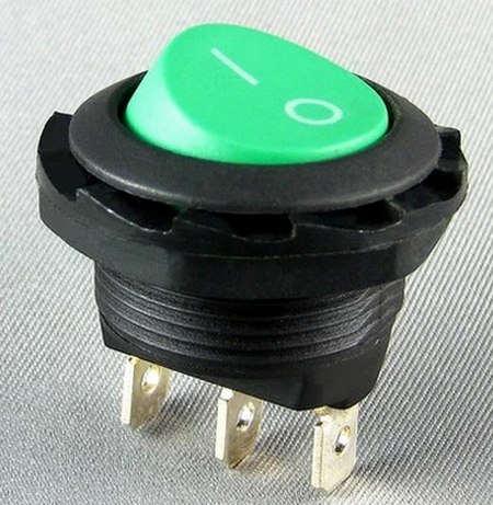 Red light button, Shanghai permanent star round ship switch KCD8-A1KCD8-12N6A3 foot nut installation