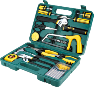 Hardware toolbox, vehicle maintenance kit, automobile emergency toolbox, car home combination package insurance