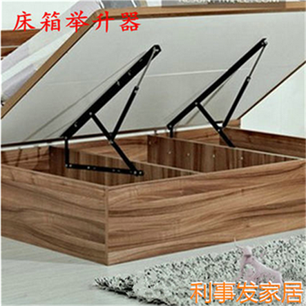 Bed lift bed hydraulic rod box lifting turnovered bed air bed double bed hinge hinge support