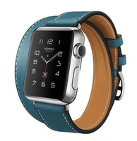 Apple Double Tour Hermes Leather Watch Strap Watch Strap Watch Strap Apple watch watch strap blue double ring